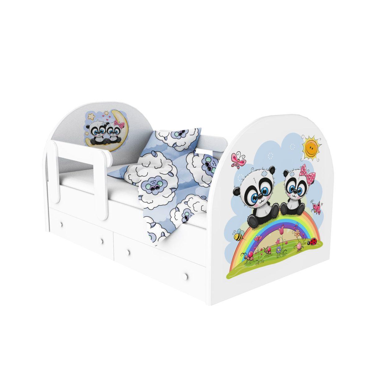 кровать с фотопечатью панды