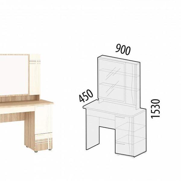 Туалетный столик Бриз 54.19