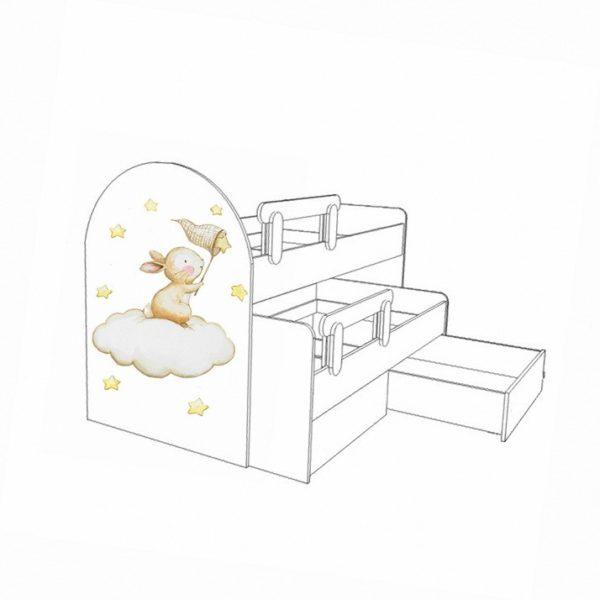 Кровать выкатная Зайчата