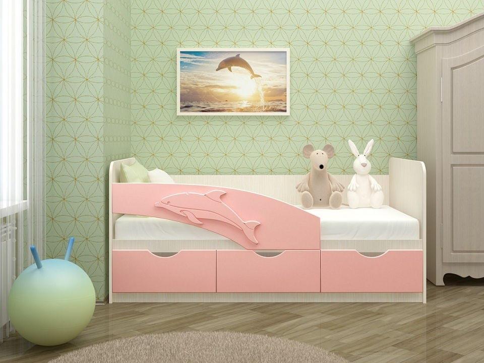 кровать дельфин с 3 ящиками