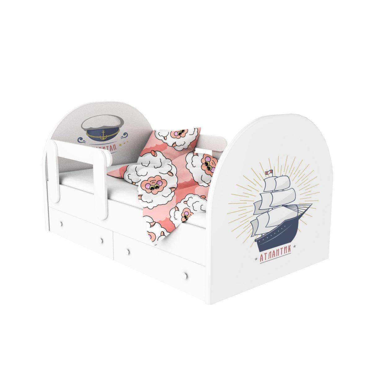 кровать с фотопечатью атлантик