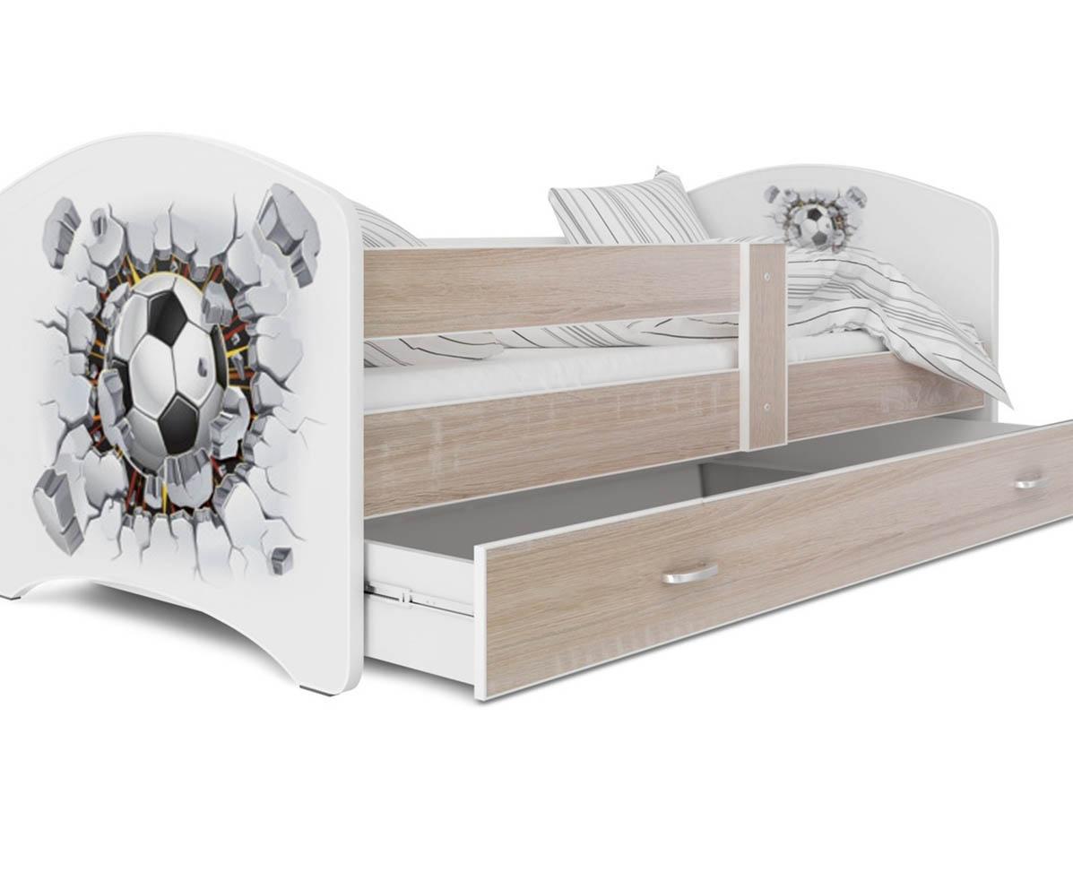 кровать с фотопечатью летящий мяч