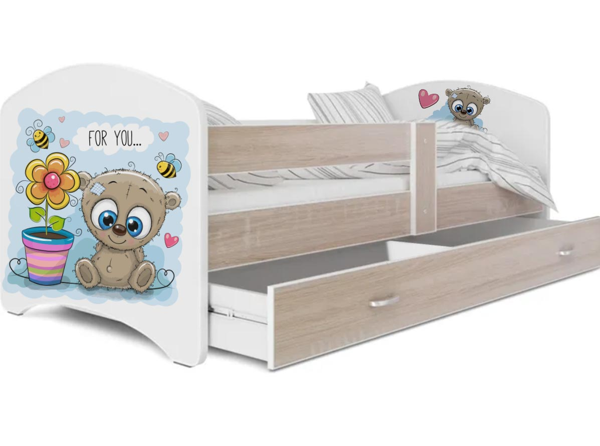 кровать с фотопечатью мишка for you